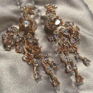 Champagne Peacock Earrings